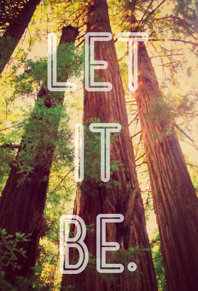 """Let it be"" graphic"
