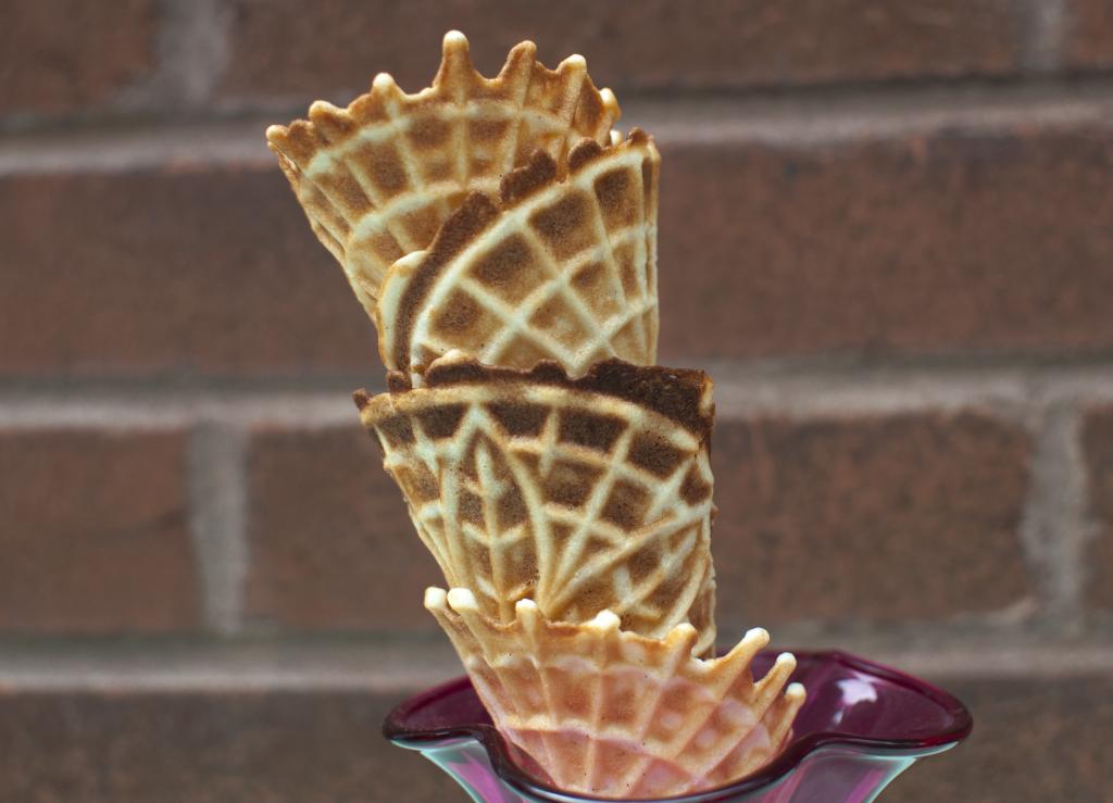 Vanilla Waffle Cones Recipe — Dishmaps